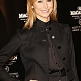Stacy Keibler accessorized with studs and a ring in NYC.