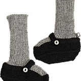 Oeuf Knit Mary Jane Sock Booties