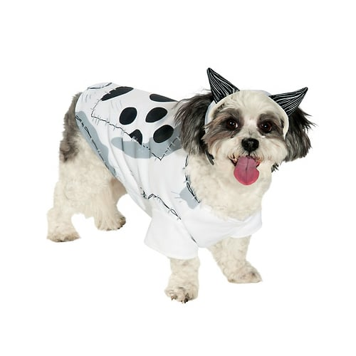 Opening this Friday, Oct. 5, Tim Burton's next dark yet heartwarming animated frolic, Frankenweenie, tells the tale of a boy who resurrects his beloved canine companion . . . and then all hell breaks loose! The raised-from-the-dead Sparky costume ($17) should be a hot ticket for pups this Halloween.
