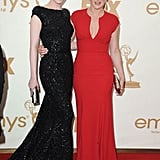Mildred Pierce costars Evan Rachel Wood and Kate Winslet posed on the red carpet together.