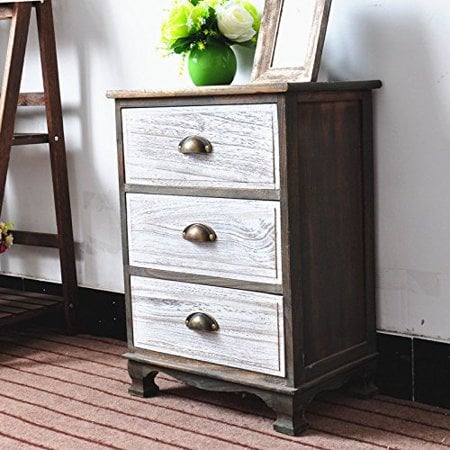 Fully Assembled Two-Tone Finish Night Stand