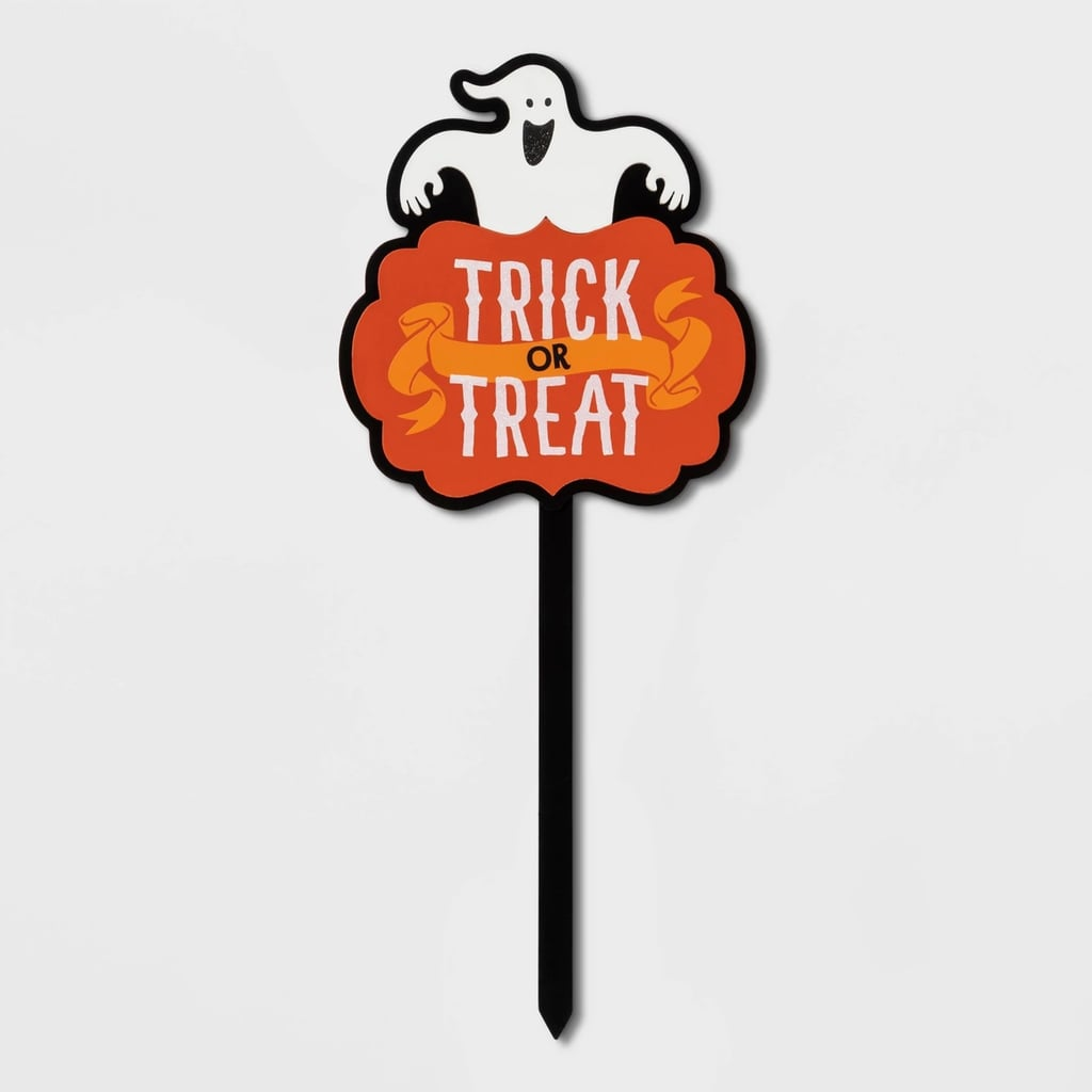 Trick-or-Treat Ghost Halloween Yard Stake