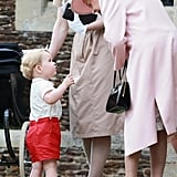 This Moment Between Prince George and His Great-Grandmother