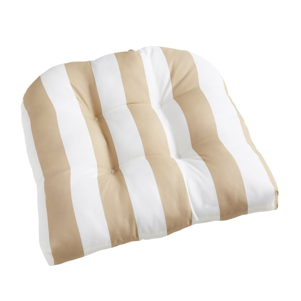 Standard Contour Chair Cushion in Natural Stripe