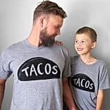 Father and Child Tacos Tees Set