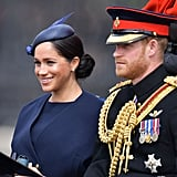 Meghan Markle Navy Outfit at Trooping the Colour 2019