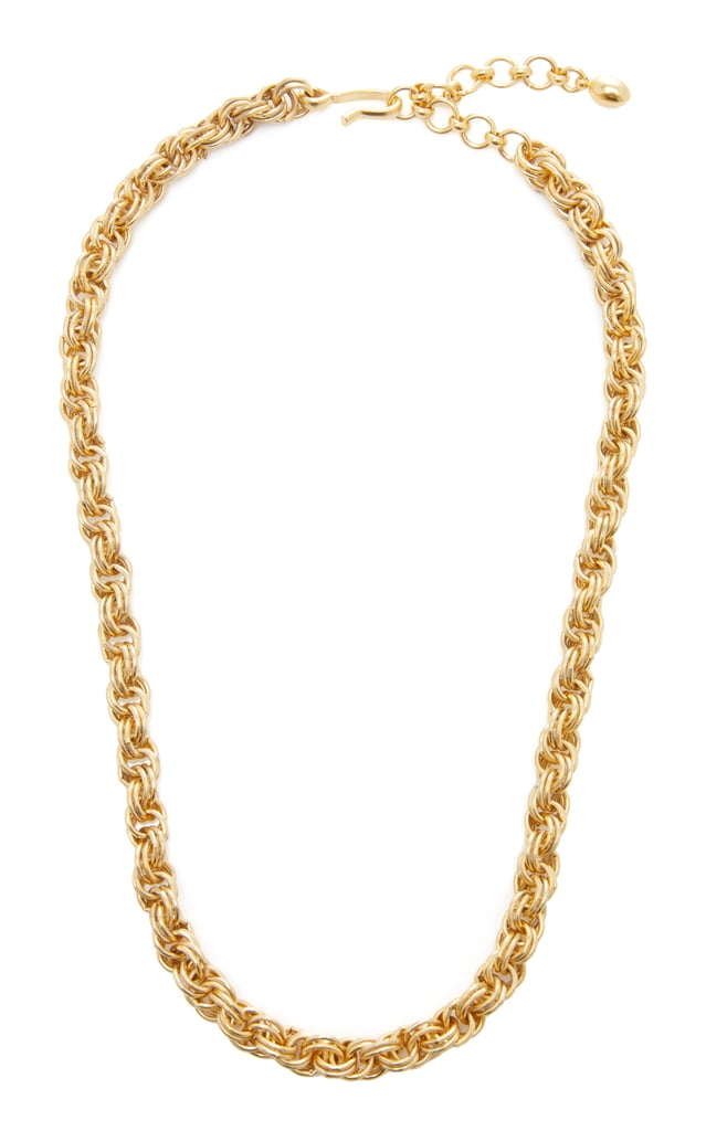 Chain Reaction 24k Gold-Plated Necklace by Brinker & Eliza
