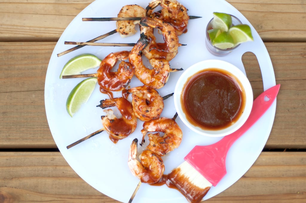 Sriracha-Soy Shrimp Skewers