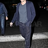 Patrick Dempsey looked handsome in navy hues.