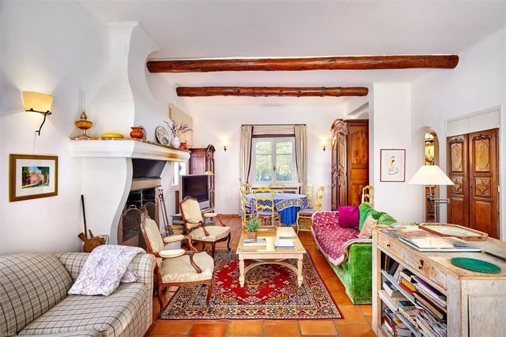 The Living Room Julia Child S Home In Provence France