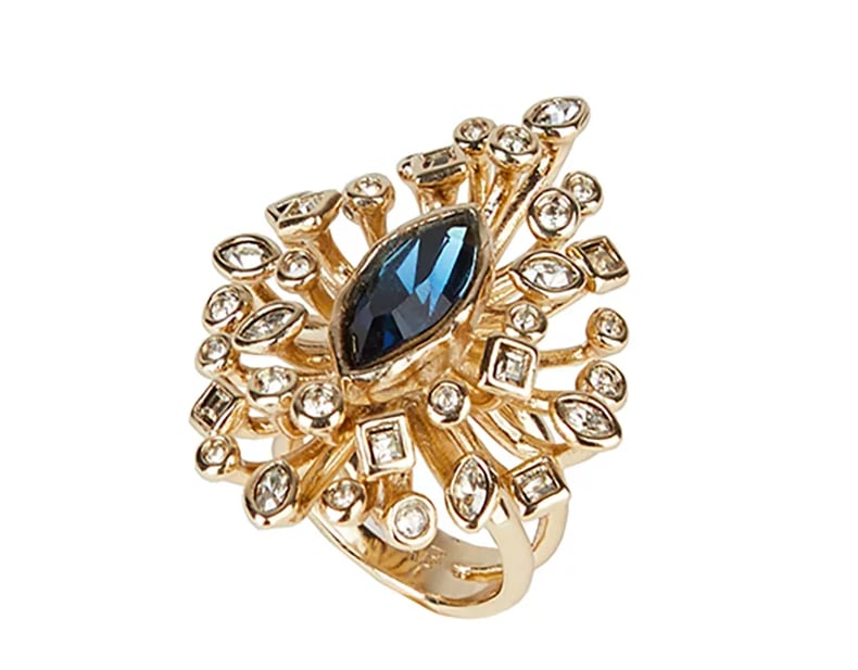 Navette Crystal Burst Cocktail Ring