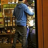 Justin Bieber and Selena Gomez kissed while waiting for their drinks at an LA Jamba Juice in January.