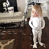 Your kid tried to help you with a renovation task.