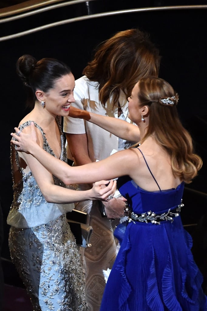 Brie also appeared kind of starstruck while greeting Star Wars' Daisy Ridley.