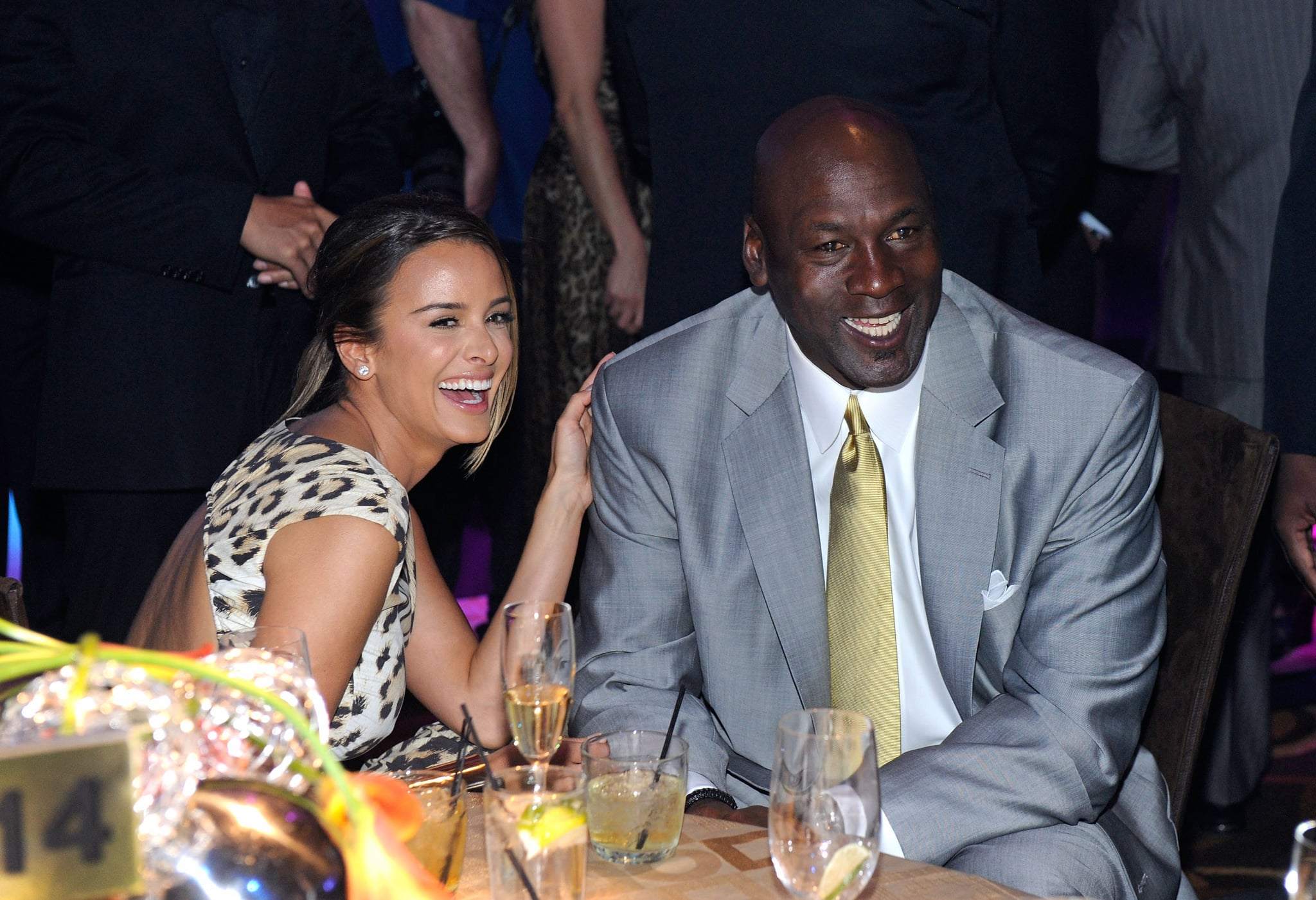 LAS VEGAS, NV - MARCH 30:  Charlotte Bobcats owner Michael Jordan (R) and fiancee Yvette Prieto attend the 11th annual Michael Jordan Celebrity Invitational gala at the Aria Resort & Casino at CityCentre March 30, 2011 in Las Vegas, Nevada.  (Photo by Ethan Miller/Getty Images for MJCI)