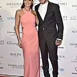 On the arm of new beau Liam Payne at Eva Longoria's Global Gift Gala, Cheryl picked a pretty pink gown by Elizabeth and James.