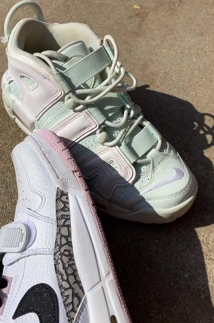pago Ministerio dictador  Billie Eilish's Green Nike Air Uptempo Sneakers | POPSUGAR Fashion