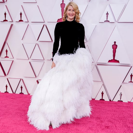 Laura Dern Looks Like Moira Rose in Oscar de La Renta Dress