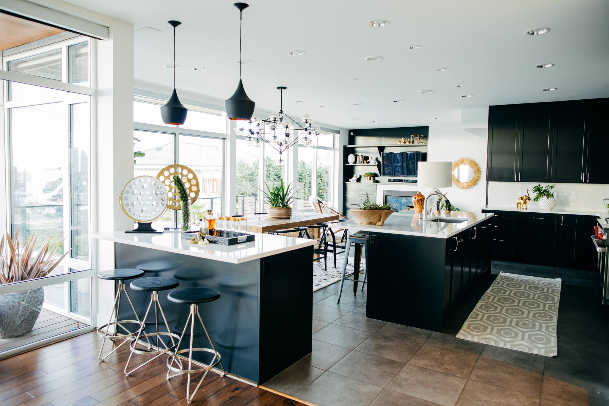 Black Kitchen Cabinets 10 Gorgeous Ways To Work The Black Paint Trend Into Your Home Popsugar Home Photo 2