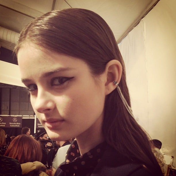 Spotted: a must-try eyeliner look at Mara Hoffman.
