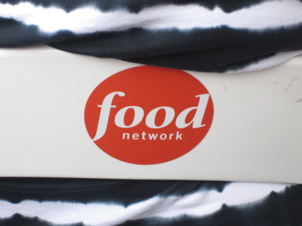 The Food Network Logo Was Everywhere Including The Back Chairs