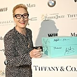 Meryl Streep signed a Tiffany box at the Women in Film party.