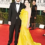 Seth Rogen and Lauren Miller head into the show.