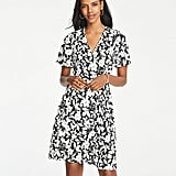 Ann Taylor Garden Flutter Sleeve Wrap Dress