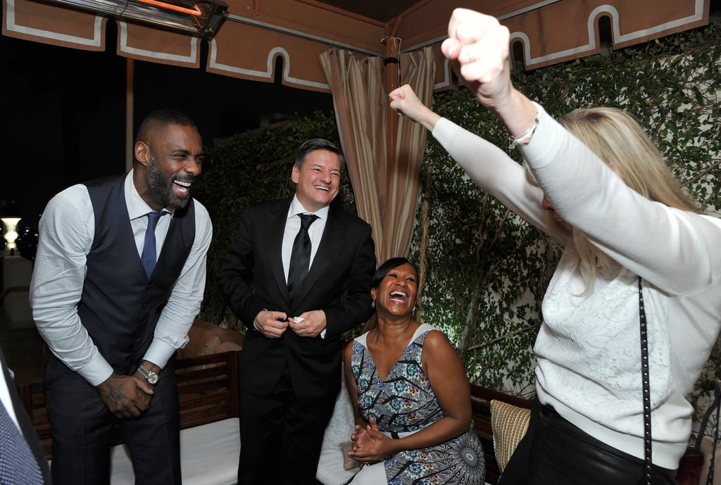 Pictured: Idris Elba, Ted Sarandos, Nicole Avant, and Irena