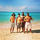 Wilmer Valderrama and his wolfpack went shirtless on the beach of Bimini in the Bahamas. Source: Instagram user wilmervalderrama