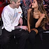 Ariana Grande and Pete Davidson at the 2018 MTV VMAs