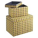 Renae Patterned Storage Boxes