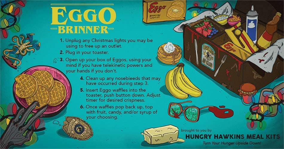 "Stranger things ""Eggo Brinner"""
