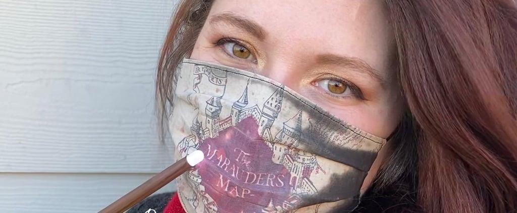 Harry Potter Marauder's Map Colour-Changing Face Mask TikTok