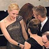 Cate Blanchett chatted with Ryan Gosling and his mom.