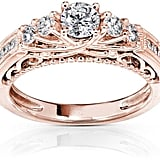Ice 3/4 CT TW Diamond 14K Rose Gold 5-Stone Engagement Ring ($2,393)