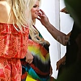 Pregnant Jessica Simpson at photo shoot in Palm Springs.