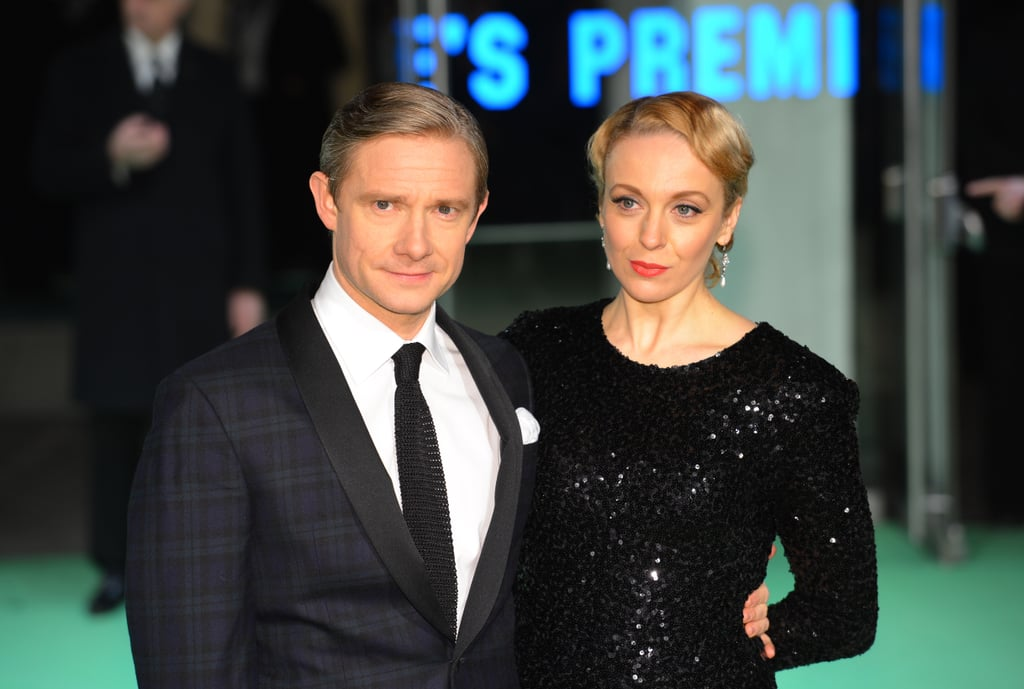 Martin Freeman posed with partner Amanda Abbington.
