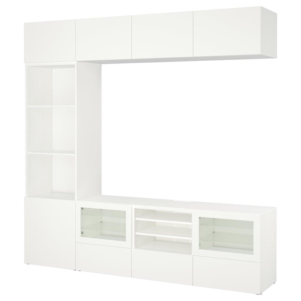 besta tv storage combination best ikea black friday deals 2018 popsugar home photo 12. Black Bedroom Furniture Sets. Home Design Ideas