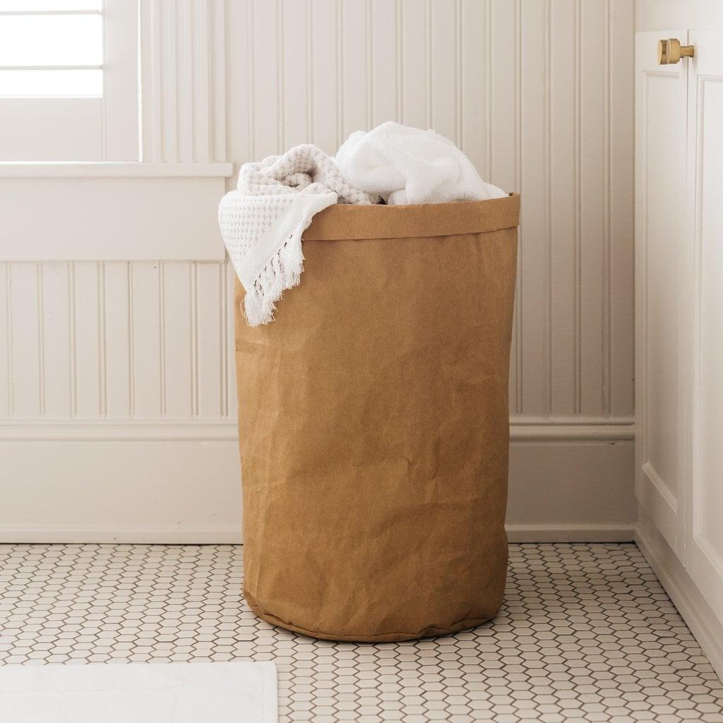 Washable Brown Paper Hamper
