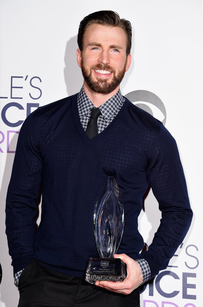 In 2015, Chris Evans looks insanely handsome on the red carpet.