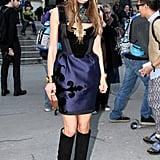 Anna Dello Russo brought her fashion flair to Rochas.