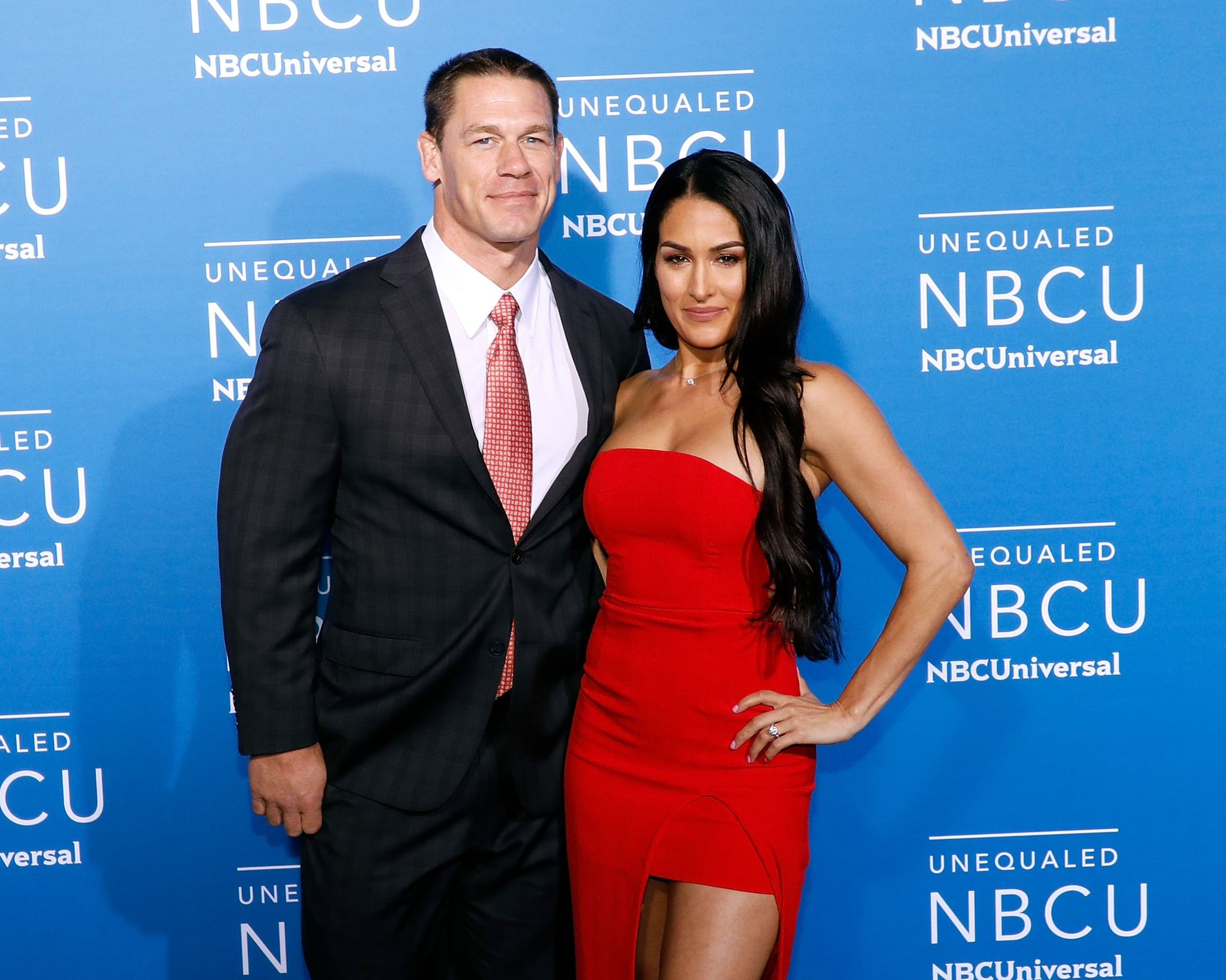 NEW YORK, NY - MAY 15:  John Cena and Nikki Bella attend the 2017 NBCUniversal Upfront at Radio City Music Hall on May 15, 2017 in New York City.  (Photo by Taylor Hill/FilmMagic)