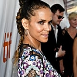When Halle goes for it, she really goes for it. We love the extra detailing on the top of this high braid.