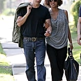 Halle Berry and Olivier Martinez took a walk in LA together over the Memorial Day weekend.