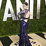 Lily Collins arrived at the Vanity Fair Oscar party on Sunday night.