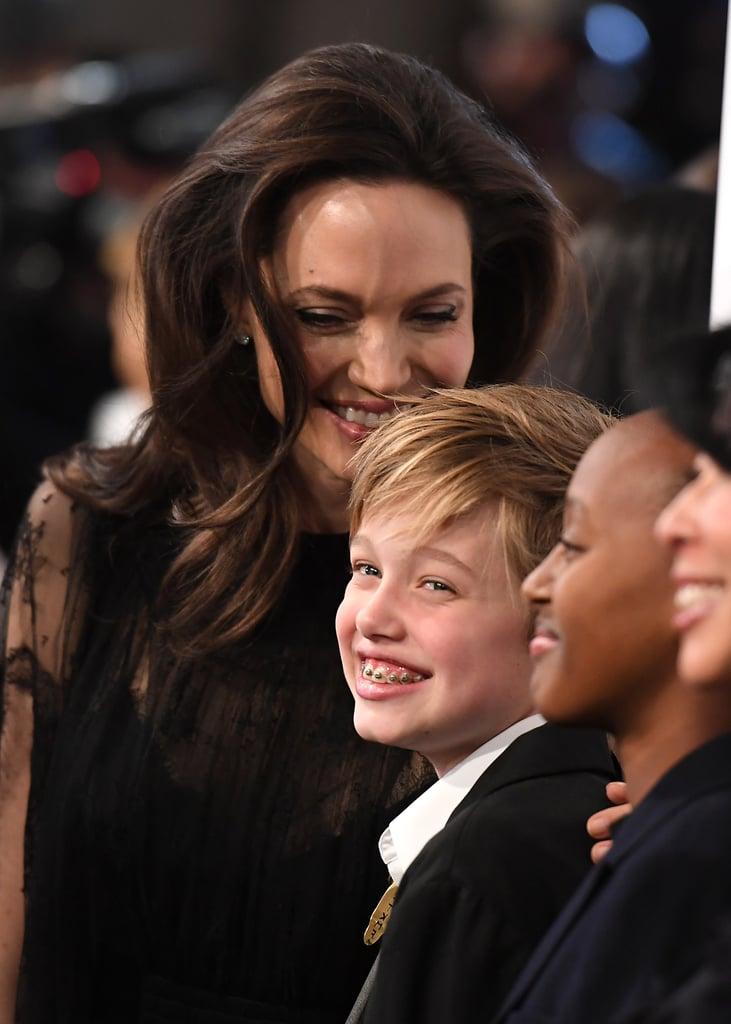Angelina Jolie, Shiloh, and Zahara Jolie-Pitt attending the National Board of Review Awards Gala