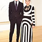 Vladimir Restoin Roitfeld and Giovanna Battaglia at a Sotheby's dinner in New York. Source: Matteo Prandoni/BFAnyc.com