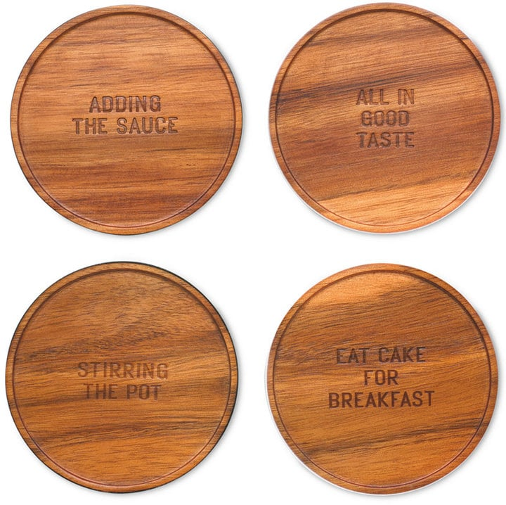Kate Spade Wood Coaster Set