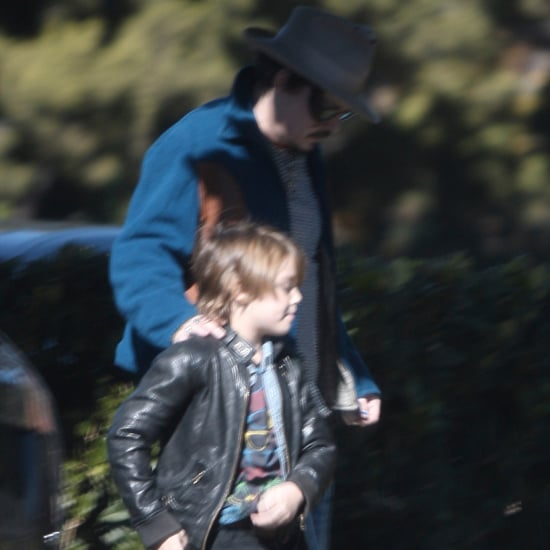 Johnny Depp Vanessa Paradis in LA With Son Jack Pictures